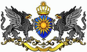 Das Wappen des Sonnenstaatlandes